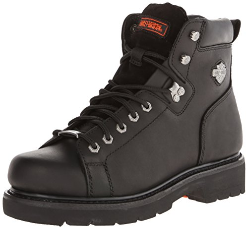 Harley-Davidson Men's Barton Lace-To-Toe Motorcycle Boot, Black, 12 M US