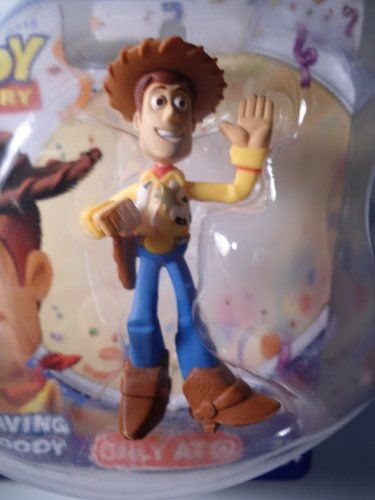 Disney Pixar Toy Story It's Time to Celebrate Buddy Figure Waving Woody - 1
