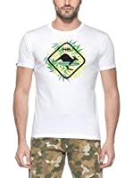Hot Buttered Camiseta Manga Corta Leaf (Blanco)