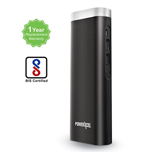 PowerXcel-RBB043PX-11000-mAh-High-Capacity-Power-Bank-with-Powerful-LED-Flashlight-BIS-Certified-portable-charger-with-1-Year-Replacement-WarrantyBlack