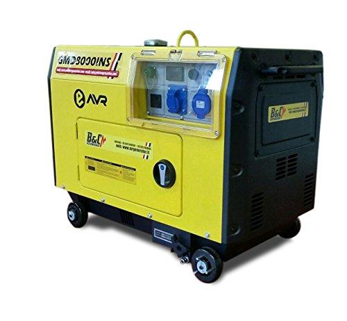 Gruppo elettrogeno generatore di corrente diesel super for Amazon gruppi elettrogeni