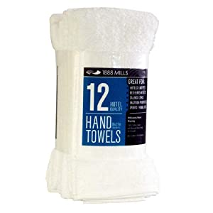 Amazon Com 1888 Mills White Hand Towels Commercial