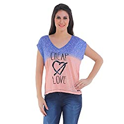 Meish Blue Printed Top for Women