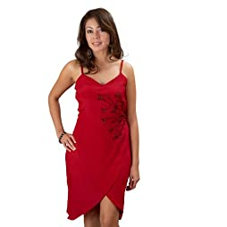 Red Wrap Party Dress