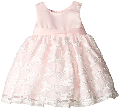Blueberi Boulevard Baby-Girls Newborn Sleeveless Dress with Rouching Skirt, Pink, 3-6 Months