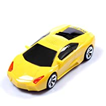 Mini Speaker Mni Mp3 Player Lamborghini Car Model Speaker with LCD Display Screen Support Tf Card USB in Yellow
