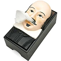 Shakespeare Tissue Box Cover as white elephant gift idea