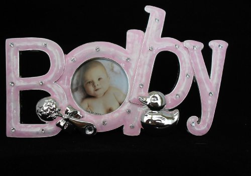 7.2 Inch Baby Letter Frames - Pink - 1