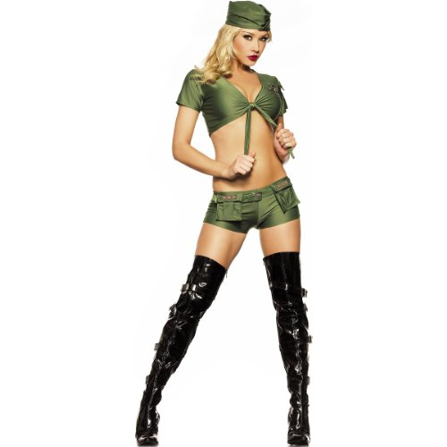 Sergeant Sexy Women's Costume Adult Halloween Outfit - Size M/L, Dress Size 6-10