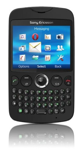 Sony Ericsson CK13I-BK txt Unlocked GSM Phone with QWERTY Keypad, 3MP Camera, Media Player, Wi-Fi and Bluetooth - Unlocked Phone - US Warranty - Black