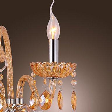 kai Artisitc-Applique murale - 2 lumières-bougie en cristal Ambre