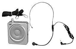 PYLE-PRO PWMA50S 50 Watts Portable Waist-Band Portable PA System with Headset Microphone, Rechargeable Batteries (Color Silver)