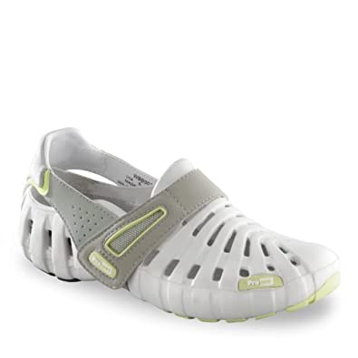 Women's Propet® Voyager Walker Sandals, GREY/LIME, 6