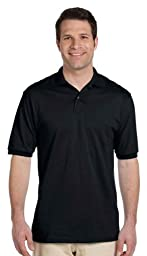 Jerzees Men\'s 5.6 oz.; 50/50 Jersey Polo with SpotShield� - BLACK - XL