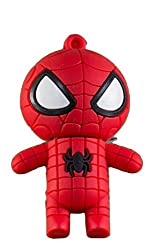 Zeztee Spiderman Cartoon Character Shape 16GB Pen Drive ZTRBPD9178_R USB 2.0 (Red)