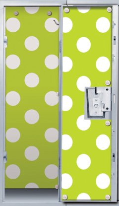 Lime Dots Locker Wallpaper