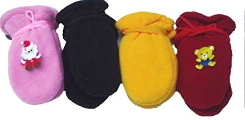 set-of-four-pairs-of-multicolor-finest-mongolian-fleece-mittens-for-infants-ages-3-12-months
