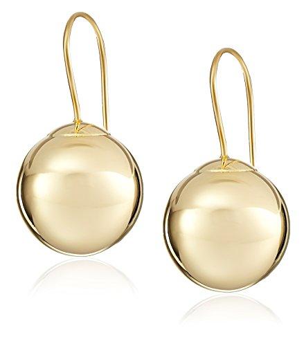 14k Yellow Gold Ball Dangle Earrings