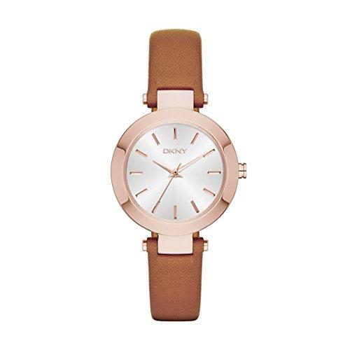 DKNY  NY2415 - Reloj de cuarzo con correa de acero inoxidable para mujer, color blanco