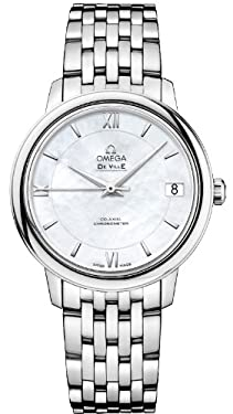 Omega Women's 42410332005001 Analog Display Swiss Automatic Silver Watch