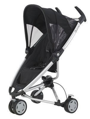 Black Quinny Zapp 3 Wheeler Pushchair
