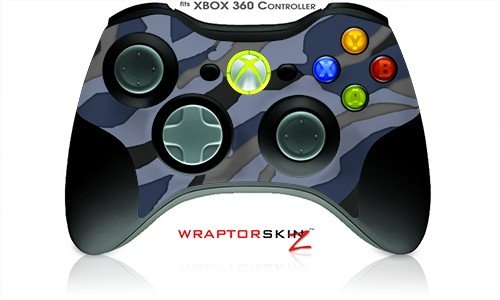 Xbox 360 Wireless Controller Decal Style Skin - Camouflage Blue - Controller Not Included (Oem Packaging)