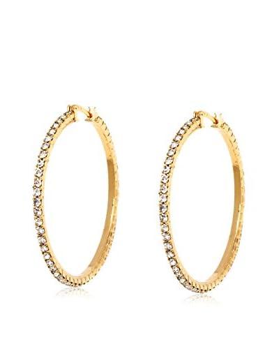 Sevil Sparkle Crystal Hoop Earrings