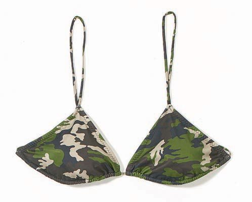 Woodland Camo String Bikini Top-XL