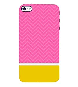 Classic Yellow Pink Design 3D Hard Polycarbonate Designer Back Case Cover for Apple iPhone SE