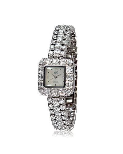 Adee Kaye Women's AK9-71-L/C Glamour Collection Crystal & Brass Watch