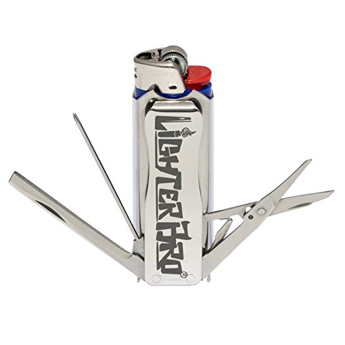 LighterBro Stainless Steel Lighter Sleeve, Silver
