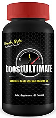 boostULTIMATE - #1 Rated Testosterone Booster - 60 Capsules - Increase Stamina, Size, Energy & More 1 Month Supply