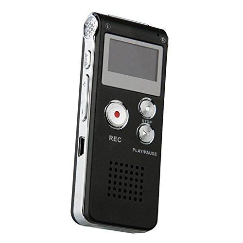 MVPower digital voice recorder, 8 GB, MP3 Player, Digitalrecorder, Diktiergerät, Digitaler Recorder, Notetaker, Aufnahmegerät, Sprachaufnahme