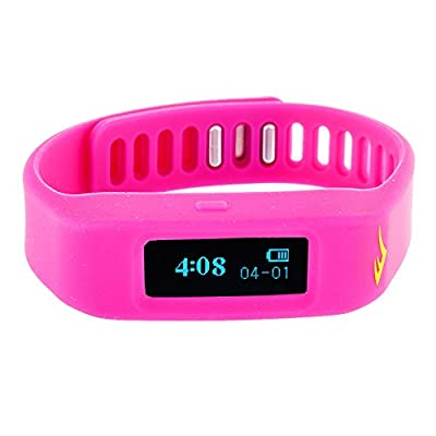 Everlast TR1 Pink Wireless Sleep/ Fitness Activity Tracker Watch with LED Display