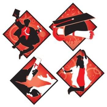 Graduation Cutout Set of 4