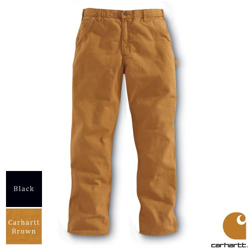 Carhartt Workwear Washed Duck Work Mens Trousers Carhartt Brown Waist 36 Inch - Leg 34 Inch