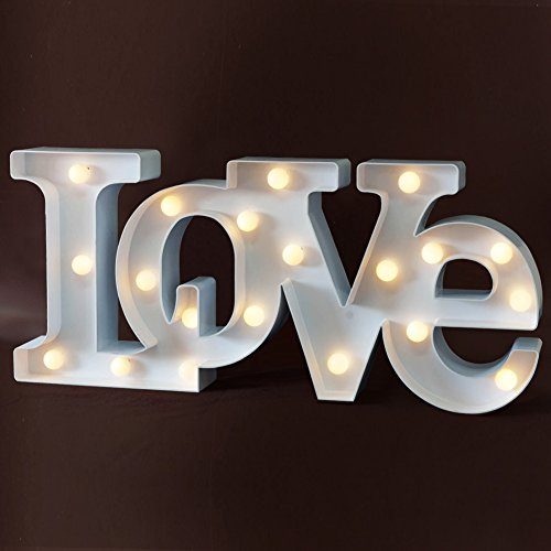 """Led Sign Home Decor: BRIGHT ZEAL Decorative LED Marquee Sign """"Love"""" (18"""" X 8"""" X"""
