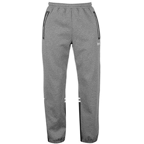 Lonsdale -  Pantaloni sportivi  - A righe - Uomo grigio Medium