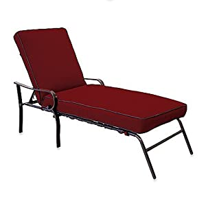 Padded Indoor Outdoor Oversized Reclining Chaise Patio Lounge C