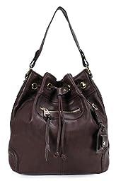 Scarleton Large Drawstring Handbag H107820 - Burgundy