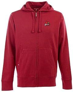 Louisville Signature Full Zip Hooded Sweatshirt (Team Color) by Antigua