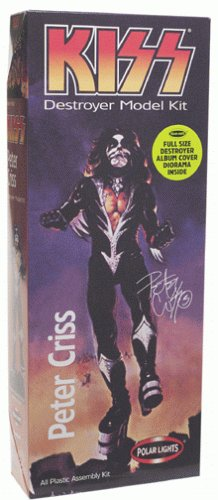 Playing Manits - 1998 - Polar Lights - KISS destroyer Model Kit - Peter Criss the Catman - All Plastic Assembly Kit - Full Size Destroyer Album Cover Diorama Inside - Out of Production - RARE - New - Limited Edition - Collectible (Ace Model Kits compare prices)