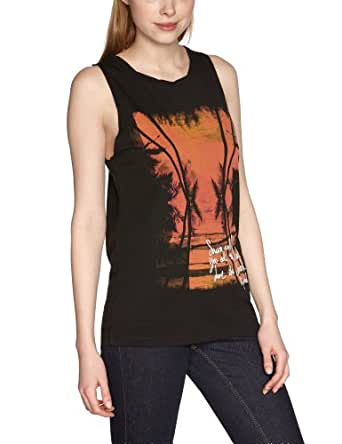 Rip Curl Robin Women's Tank Top Solid Black X-Large