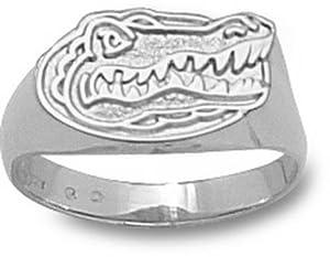 Florida Gators 3 8 Gator Head Ladies Ring Size 6 1 2 - 14KT White Gold Jewelry by Logo Art