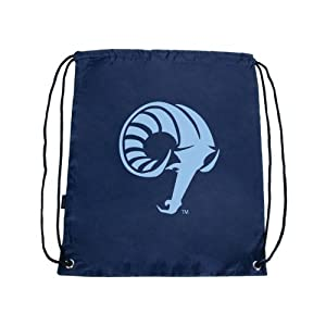 Rhode Island Nylon Navy Drawstring Backpack, Ram Head