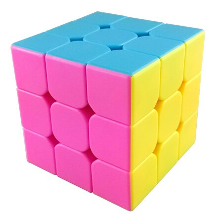 MoYu AoLong V2 3x3x3 Speed Cube Enhanced Edition Hgh Bright Stickerless - Pink