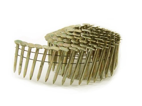 B&C Eagle ACR-1 Round Head 1-Inch x .120 Smooth Shank Electrogalvanized Coil Roofing Nails (1,080 per box) (Roofing Coils compare prices)