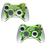 "Xbox 360 - Controller Twin-Skin [Jungle & Kiwi]von ""Kamikaze Gear"""