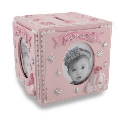 Pink Baby`S First Memories Princess Photo Cube Coin Bank front-1000816