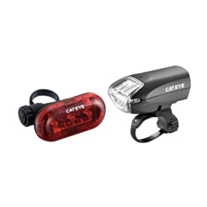 Cateye EL220N/LD130 Head Light and Rear Light